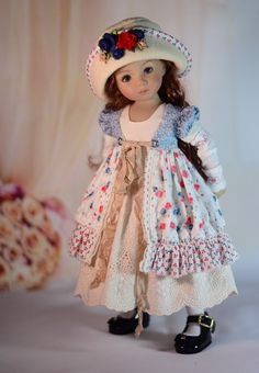 """""""Broderie & Roses"""" Dress Outfit Clothes for 13"""" Dianna Effner Little Darling 