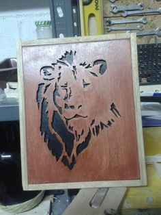 Scrollsaw lion