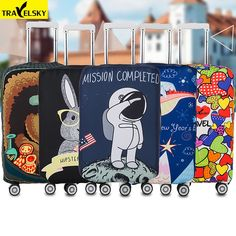 Wolf Moon Pattern Travel Luggage Cover Spandex Washable Suitcase Protector Baggage Covers Fits 18 To 32 Inch