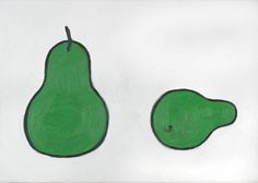 William Scott, Still Life, Pears, 1977, Oil on canvas, 25.5 × 35 cm / 10 × 13¾ in, Private collection