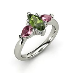 The Camille Ring #customizable #jewelry #tourmaline #garnet #gold #ring
