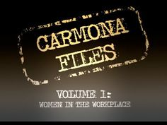 """""""Carmona Files - Volume 1: Women in the Workplace"""" from the NRSC opposes former U.S. Surgeon General Richard Carmona, the Democratic candidate for U.S. Senate in Arizona. 10/10/12"""