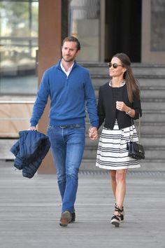 """Nowożeńcy Pippa Middleton i James Matthews zostały dostrzeżone szuka """"bardzo zakochana"""", jak wylądował w Sydney"""