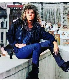 Europe Band, Joey Tempest, Rock Bands, Photo Book, Rock And Roll, Bomber Jacket, Punk, Leather Jacket, Sexy