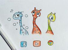 Giraffes drawing  @kocatwins
