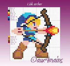 Link - Legend of Zelda  Hama perler pattern by aux4mains