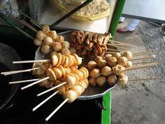 Filipino street food: Kikiam and fish balls