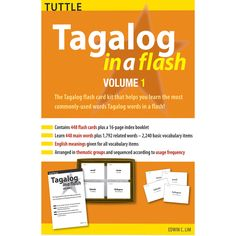 Tagalog is the national language of the Philippines, and the beloved language of the second-largest Asian-American ethnic group. With a full range of features to help beginners and intermediate learners, these Tagalog flash cards are an excellent learning tool for anyone who wants to master Tagalog (also known as Filipino).