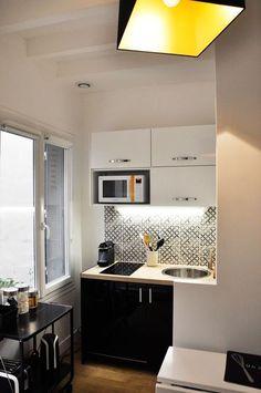 10 studios ultra déco et fonctionnels Design Room, Home Design, Interior Design Living Room, Studio Kitchen, Kitchen Decor, Ikea Kitchen, Small Space Living, Small Spaces, Casa Milano