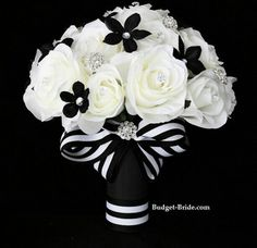 Nice black and white bouquet