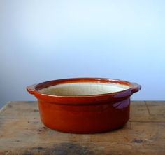 Vintage French Casserole in Terracotta French Vintage, Terracotta, Casserole, Unique Jewelry, Tableware, Etsy, Dinnerware, Tablewares, Casseroles