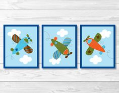 Shop Airplane Nursery Wall Art Print created by LittlePrintsParties. Airplane Wall Art, Airplane Nursery, Nursery Wall Art, Nursery Decor, Wall Decor, Printable Wall Art, Wall Art Prints, Decoration, Bedding Sets