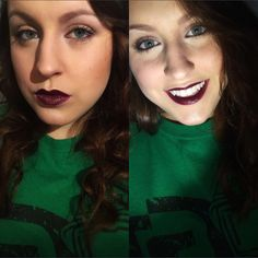 Neutral eyes and bold lips