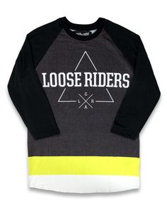 Loose Riders Herren EPIC2 Raglans.Tattoo,Biker,Oldschool,Rockabilly,Custom Style
