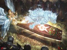 As ilustrações de fantasia e ficção científica para games de Woo Chul Lee