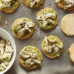 Gerard Craft grew up in Washington, DC, eating lots of Maryland blue crab. Here, he creates a very simple and delicious starter by tossing sweet crabm...