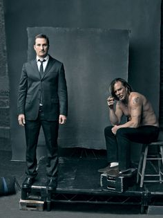 Darren Aronofsky and Mickey Rourke - The Wrestler - by Annie Leibovitz