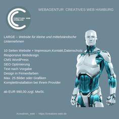 Website für kleine und mittelständische Unternehmen Web Design, Batman, Superhero, Creative, Fictional Characters, Hamburg, Graphics, Things To Do, Design Web