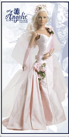Blushing Queen - Alice In Wonderland Archive - Fairy Tale Inspired Archive - Tonner Doll Archive Barbie Bridal, Barbie Wedding Dress, Wedding Doll, Barbie Gowns, Barbie Dress, Barbie Clothes, Barbie Doll, Bridal Gowns, Wedding Gowns