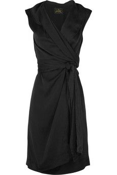 simple black wrap dress