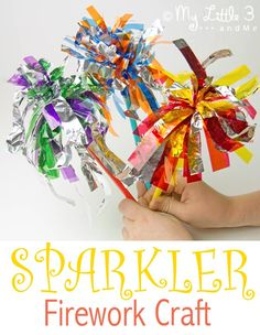 Whether you're celebrating Bonfire Night, Fourth of July, New Year or a birthday here's a fun Kid Safe Sparkler Firework Craft to add to the festivities.