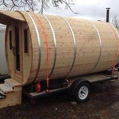 EXCLUSV Mobile Barrel Sauna Tiny Home 7'X12' Single Axle Trailer Markham / York…