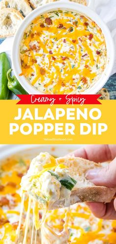 Boost your dip game with this incredible spicy and creamy Jalapeno Popper Dip! Get all the flavors and heat of the popular appetizer in a quick and easy dip! Spicy Appetizers, Popular Appetizers, Appetizers For A Crowd, Appetizer Dips, Appetizer Recipes, Easy Dip Recipes, Baked Dip Recipes, Dip Recipes For Parties, Mexican Food Appetizers