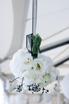 Hanging posies make a stunning feature on the Terrace