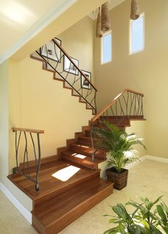 Open stairway to the bedroom on the second floor of Cottage 7. http://jamaicainn.com/accommodation.php#cottage7