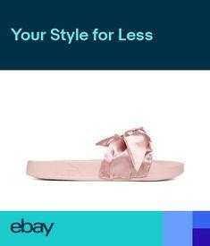 a44779963bbd Puma x Rihanna Fenty Slides Silver Pink-Puma Silver Slippers bow 365774 03