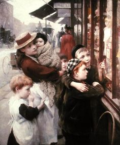 The Toy Shop - Thomas Benjamin Kennington - The Athenaeum Paintings I Love, Beautiful Paintings, Marcel Proust, Art Thomas, Toys Shop, Old Master, Art Club, Portrait, Amazing Art