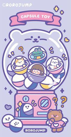 Cute Emoji Wallpaper, Cute Pastel Wallpaper, Hello Kitty Wallpaper, Cute Wallpaper Backgrounds, Pretty Wallpapers, Cute Cartoon Wallpapers, Aesthetic Iphone Wallpaper, Cute Little Drawings, Cute Drawings