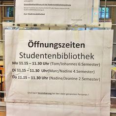 Wer zu spät kommt hat Pech gehabt. #Öffnungszeiten #Studentenbibliothek #Universität #scurrilus
