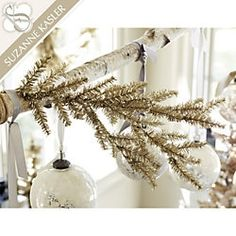 Suzanne Kasler Tinsel Branches - Set of 3