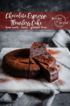 This Keto Chocolate Espresso Flourless Cake is super rich and decadent, while still being nut free, sugar free, dairy free, and gluten free. What kind of low carb wizardry is this? Free Keto Recipes, Low Carb Recipes, Real Food Recipes, Dessert Recipes, Disney Recipes, Disney Food, Cookie Recipes, Keto Friendly Desserts, Low Carb Desserts