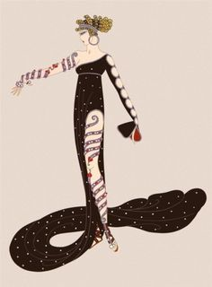 Egyptian influence in Art Deco artwork : illustration by ERTE, ( - ). Art Deco Artwork, Art Deco Posters, Art Deco Illustration, Art Illustrations, Fashion Illustrations, Moda Art Deco, Erte Art, Romain De Tirtoff, Art Deco Artists