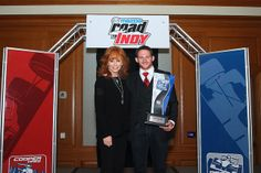Reba McEntire - Racer Mom with son Shelby Blackstock by MischiefTV, via Flickr