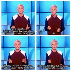 Seriously, what is the priority here?  Ellen obviously knows it!
