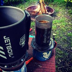 One of the best ways to wake up while camping @jetboil #aeropress and our @howlerbros mug // #camp #familylife #builtforthewild #theoutbound #go #camp #liveordinarywell #artofslow #heedthecall #getoutside http://ift.tt/1Vbg53z