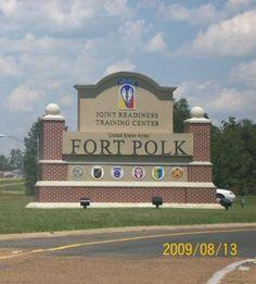 Fort Polk, LA where Bucky went through intense training before being deployed.
