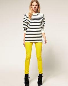 ASOS Skinny Jean in Bright Olive #4- morefunked up jeans!