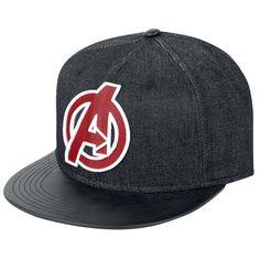 """#Cappellino """"A Logo"""" degli #Avengers con visiera in similpelle."""