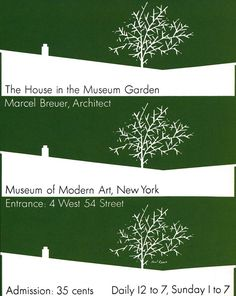 "Paul Rand ""The House of Museum Garden"" 1949"