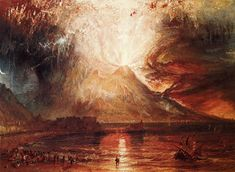 William Turner - Mount Vesuvius in Eruption, 1817, watercolor on paper
