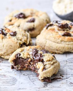 Small Batch Cookie Recipe, Small Batch Baking, Almond Flour Cookies, Gluten Free Chocolate Chip Cookies, Nutritious Snacks, Healthy Sweets, Vegan Sweets, Sin Gluten, Paleo Dessert