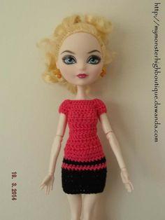 Vestido para Ever after high E13 de My Monster High boutique por DaWanda.com