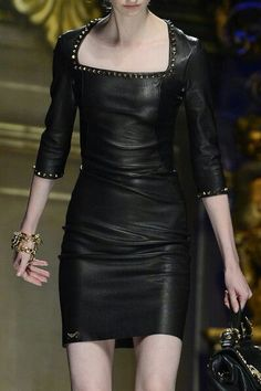 Leather dress that screams Power