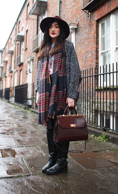 Get this look: http://lb.nu/look/7064550  More looks by Charlotte Clothier: http://lb.nu/charlotteclothier  Items in this look:  Accessorize Fedora Hat, Accessorize Bag, Accessorize Scarf, Primark Knee Boots   #bohemian #casual #chic