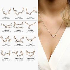 Zodiac Jewelry Celestial Best Friend Gift Libra Zodiac Constellation Necklace  Zodiac Necklace Under 20 Dollars Sagittarius Capricorn - ZCPN a7babc4e4c63