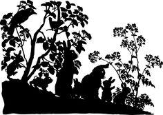 vintage silhouettes | VintageFeedsacks: Vintage Woodland Creatures Silhouette Silhouette Artist, Rabbit Silhouette, Silhouette Clip Art, Silhouette Images, Vintage Silhouette, Animal Silhouette, Woodland Creatures, Woodland Animals, Forest Creatures